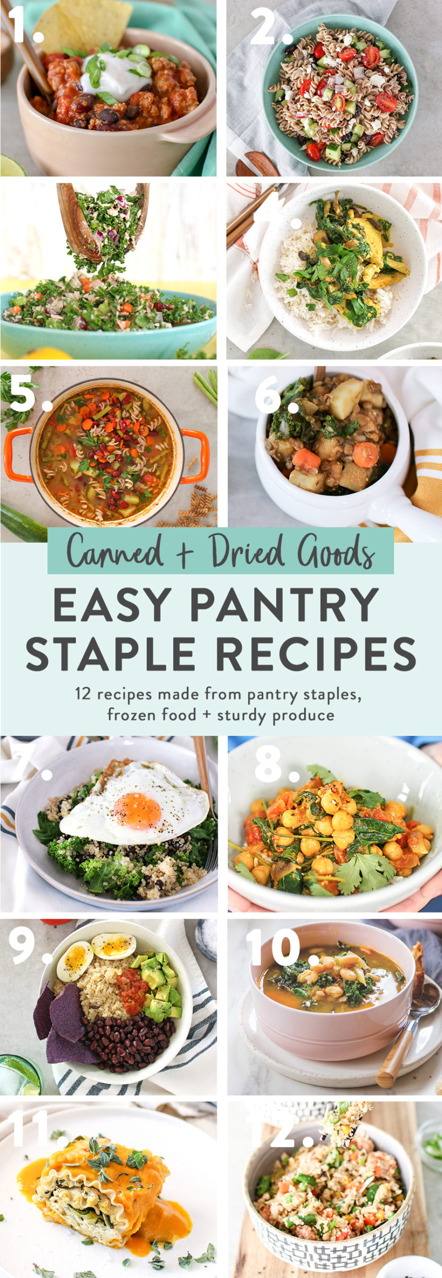 14 Easy Pantry Staple Recipes that you can make with ingredients you likely already have on hand in your pantry or freezer!