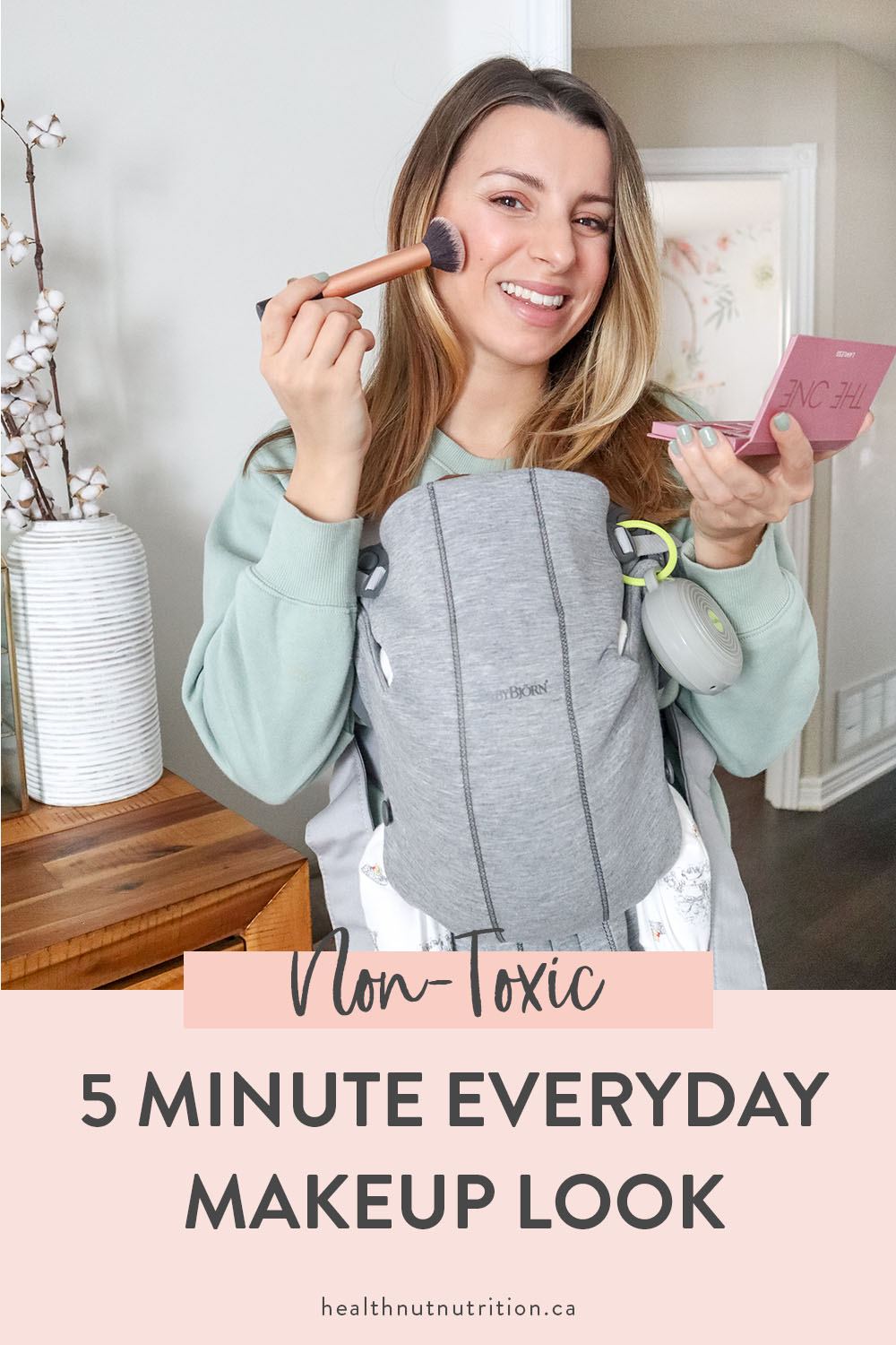 Quick & easy 5 minute everyday makeup look with all natural products! This is my go-to makeup look to help me feel a little more put together and ready to take on the day!