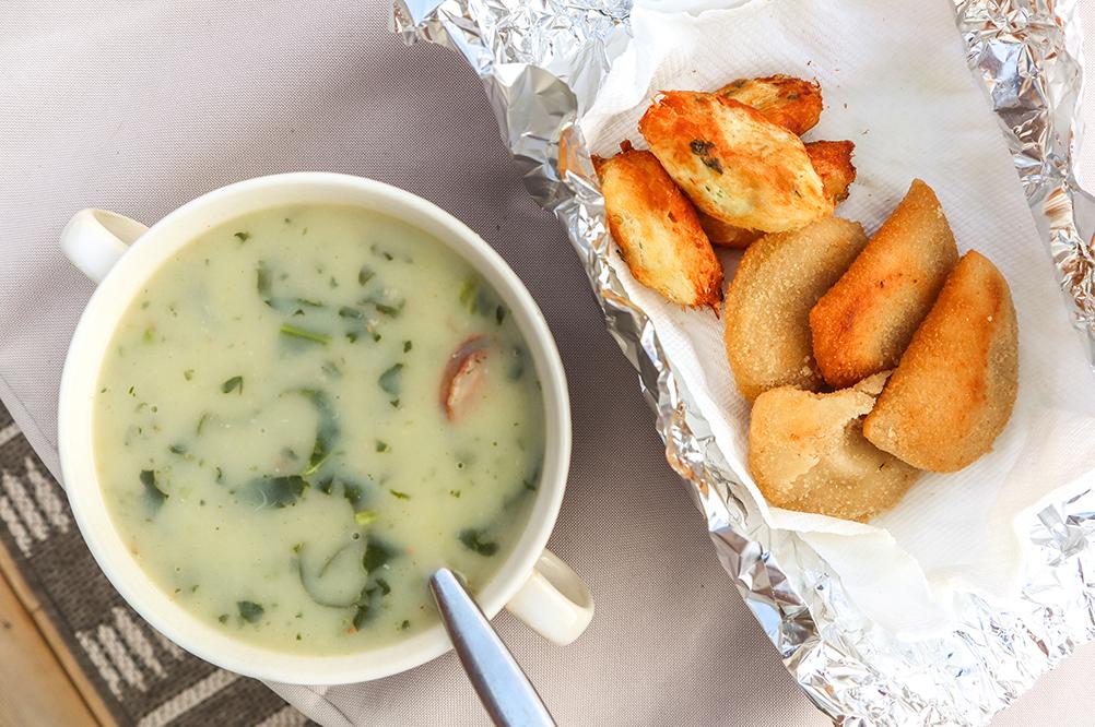 bowl of caldo verde